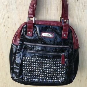 Nicole Lee Black/Red Bling Purse and Wallet GUC